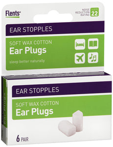 EAR PLUG STOPPLE WAX COTTN NRR22 6PR API