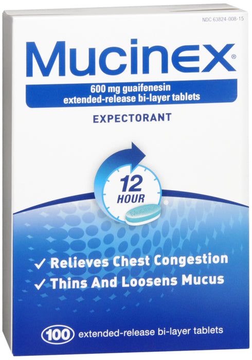 MUCINEX EXPECTORANT TABLET 100CT
