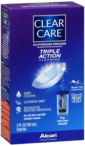 CLEAR CARE DISINFECTING TRAVEL PK 3OZ