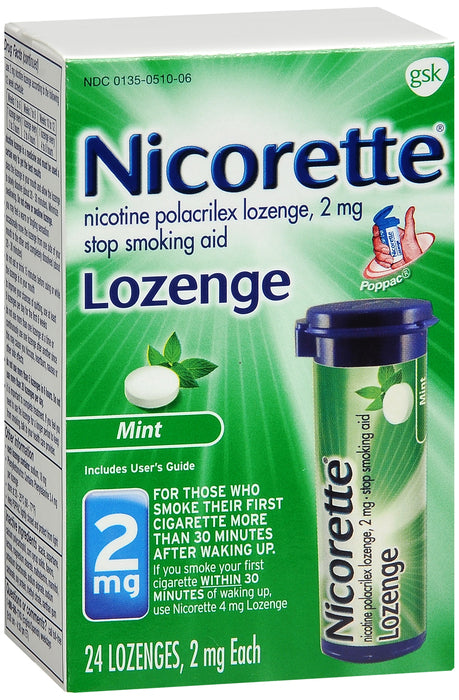 NICORETTE LOZENGE 2MG 24CT MINT