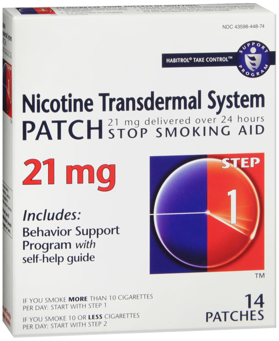 HABITROL NICOTINE TRANS PATCH 21MG 14CT