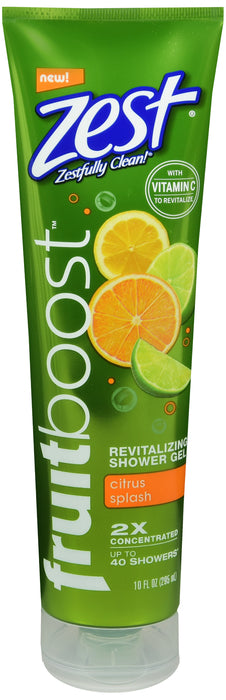 ZEST FRUIT BOOST SHOWER GEL CITRUS 10OZ