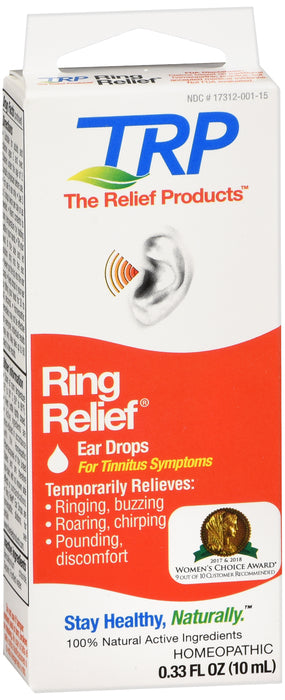RING RELIEF FOR TINNITUS EAR DROPS 10ML