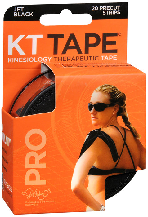 KT TAPE SYNTHETIC PRO BLACK 20CT