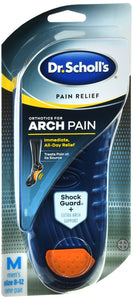 SCHOLLS PAIN ORTHO ARCH INS MEN 1PR