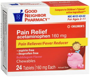 GNP PAIN RELIEF CHILD MELT 160MG 24CT