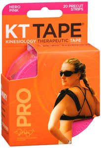 KT TAPE SYNTHETIC PRO PINK 20CT