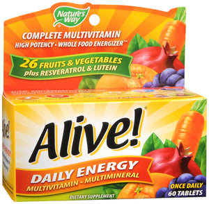 ALIVE DAILY ENERGY TAB 60CT