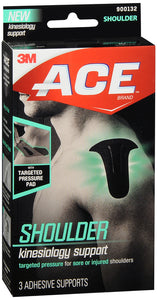 ACE KINESIOLOGY SHOULDR ADHSV SUPPRT 3CT