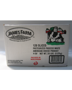 James Farm - White American Cheese - 5 lbs/120 Slices