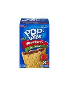 Kellogg's - Pop Tarts Unfrosted Strawberry - 14.7 oz
