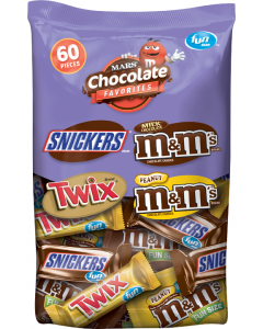 Mars - Fun Size Chocolate Favorites - 60pc. Bag