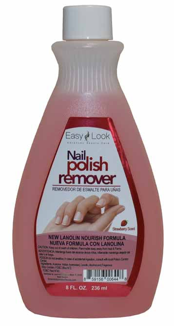 NAIL POLISH WITH LANOLIN NOURISH FORMULA WITH STRAWBERRY SCENT ELP 8oz