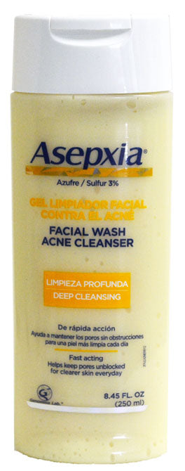 GENOMMA  ASEPXIA FACIAL WASH ACNE CLEANSER 8.4oz