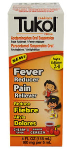 TUKOL CHILDREN'S FEVER REDUCER & PAIN RELIVER CHERRY 4oz