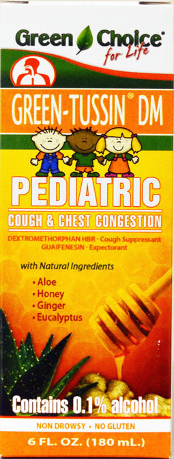GREEN TUSSIN CHILDREN DM 6oz