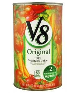 V8 - Vegetable Juice - 12/46 oz cans