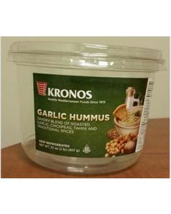 Kronos Foods Inc - Roasted Garlic Hummus - 32 oz Container