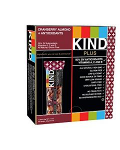 KIND Plus - Cranberry & Almond +Antioxidants Bars - 12/1.4 oz