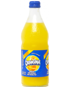 Orangina - Sparkling Citrus with Natural Pulp - 24/16 oz glass bottles
