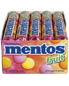 Mentos - Mixed Fruit Candy - 15/1.3 oz