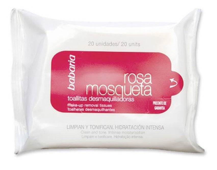 BABARIA TOWELS MAKE-UP REMOVAL ROSEHIP 20'S