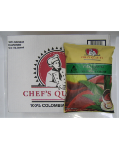 Chef's Quality - Columbian Decaffeinated Coffee - 1 lb pkgs