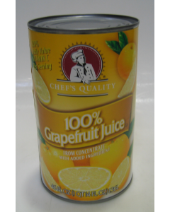 Chef's Quality - White Grapefruit Juice - 46 oz Can