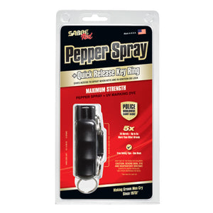 SABRE Key Case Pepper Spray with Quick Release Key Ring