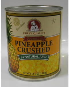 Chef's Quality - Choice Crushed Pineapple - #10 cans