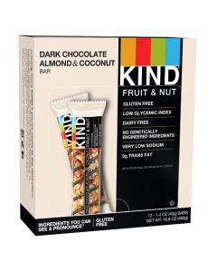 KIND - Dark Chocolate Almond & Coconut Bars - 12/1.4 oz