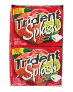 Trident - Splash Strawberry Lime Gum - 10 ct