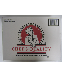 Chef's Quality - 100% Columbian Coffee with filters - 84/2 oz Packets