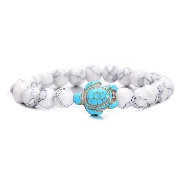 Swimming Water Stone Turtle Bracelet