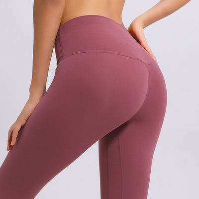 Soft High Waist Yoga Pants -Red