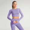 Seamless Long Sleeve Fitness Sets Tracksuit