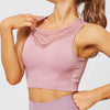 Women Tank Top Hollow Sports Bra -Pink
