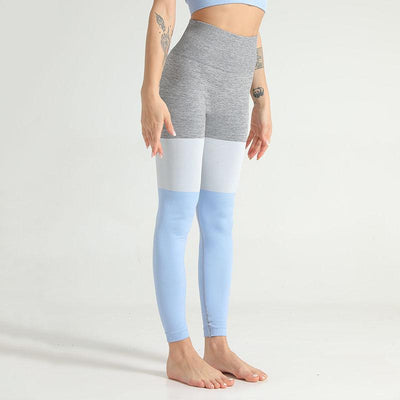 Women Seamless Leggings Push Up Pants-Blue