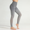 Women Seamless Gradient Gym Leggings -Gray