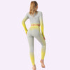 Women's Seamless Clothing Long Sleeve -Yellow