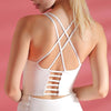 Workout Breathable Underwear Backless Bra-White