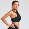 Cross Strap Back Sports Bra Top -Black