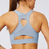 Mesh Breathable Sports Bra Tops-Blue