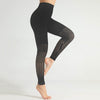 Women Seamless Gradient Gym Leggings -Black