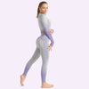 Women's Seamless Clothing Long Sleeve -Purple