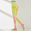 High Waist Push Up Leggings Multicolor - Yellow