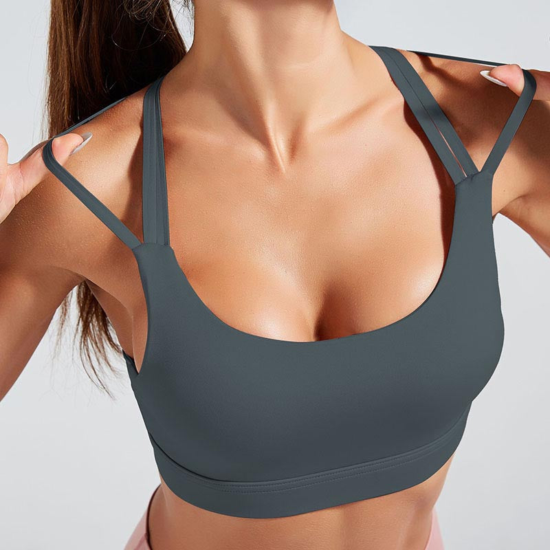 Cross Strap Back Sports Bra Top