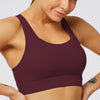 Mesh Breathable Sports Bra Tops- Wine Red
