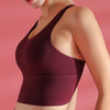 Workout Breathable Underwear Backless Bra-Wine Red