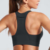 Workout High Elastic Bra Tops With Pocket-Black